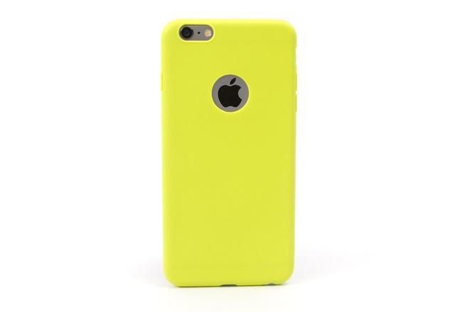 Coque silicone souple jaune pour iPhone 6 S Plus et iPhone 6 Plus