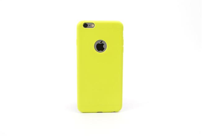 Coque silicone souple jaune pour iPhone 5, iPhone 5 S et iPhone SE