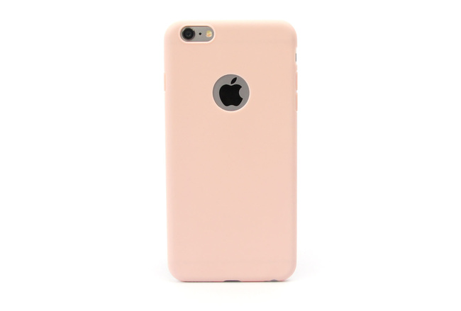 Coque silicone souple rose pour iPhone 6 S Plus et iPhone 6 Plus