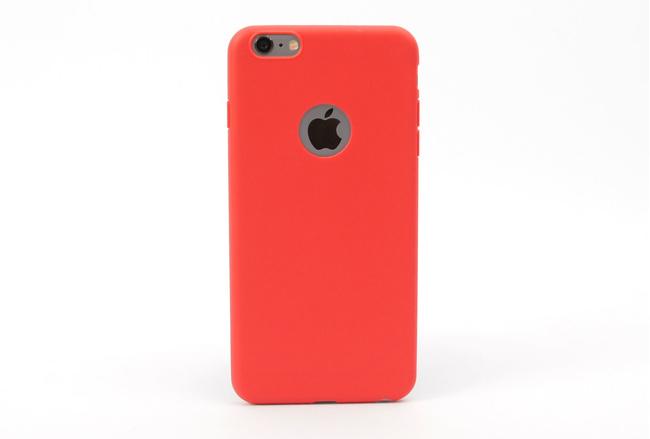 Coque silicone souple rouge pour iPhone 6 S Plus et iPhone 6 Plus