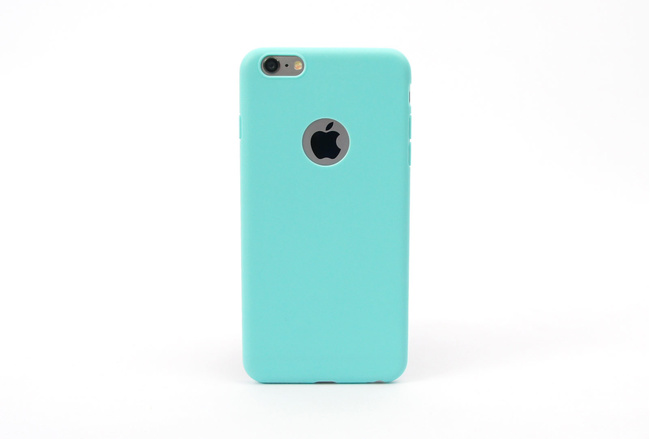 Coque silicone souple turquoise pour iPhone 6 S et iPhone 6