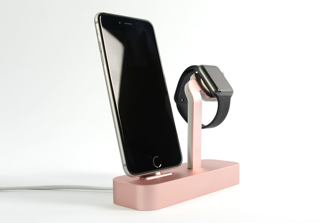 Dock Steel Rose pour iPhone et Apple Watch