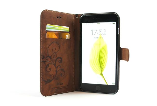 Étui portefeuille en simili cuir marron pour iPhone 6S et iPhone 6