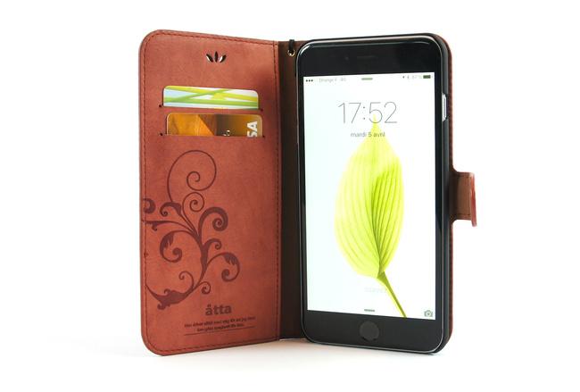 Étui portefeuille en simili cuir rose pour iPhone 6S et iPhone 6