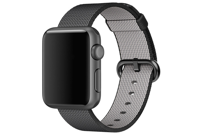 Bracelet Nylon noir Apple Watch 42 mm - S/M et M/L