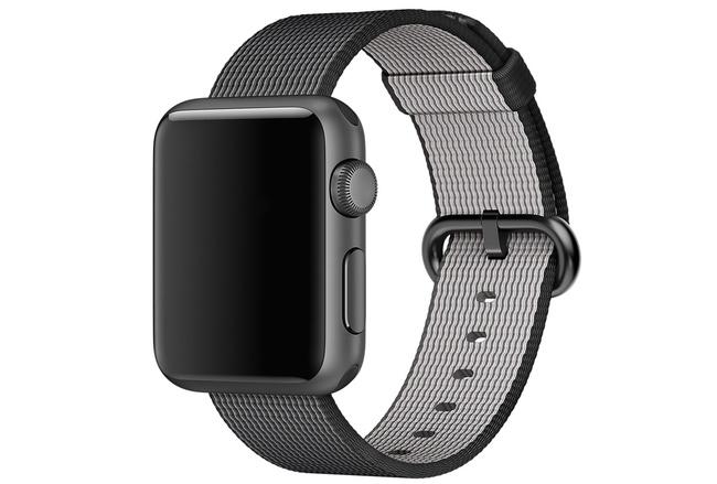 Bracelet Nylon noir Apple Watch 42 mm - S/M et M/L
