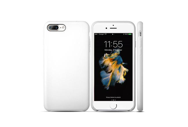 Coque silicone souple blanc pour iPhone 7 Plus