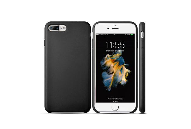 Coque silicone souple noir pour iPhone 7