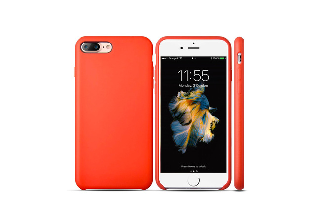Coque silicone souple rouge pour iPhone 7