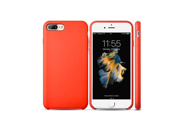 Coque silicone souple rouge pour iPhone 7 Plus