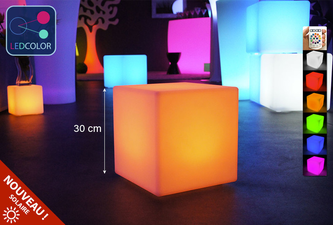 Cube Lumineux à LED Multicolore   30 Cm