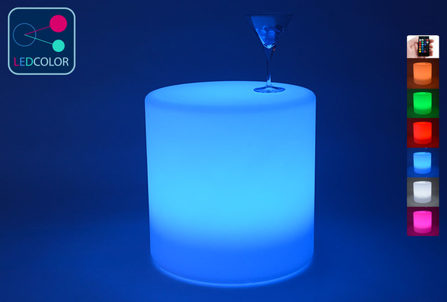 Cylindre Lumineux LED Multicolore - 40 cm