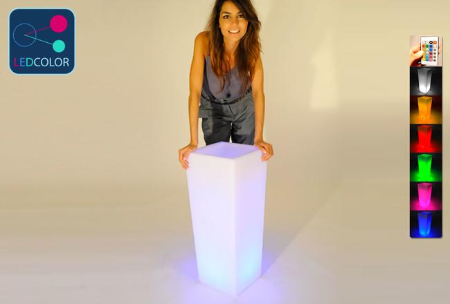 Vase Lumineux à LED Multicolore - SQUARE