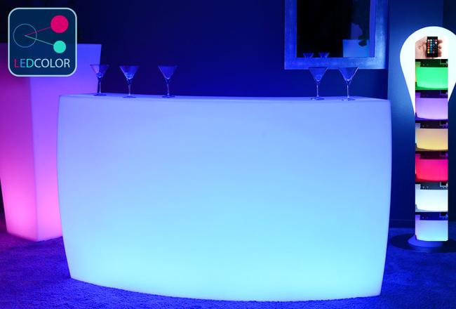 BAR Lumineux à LED Multicolore - KRUG ROUND
