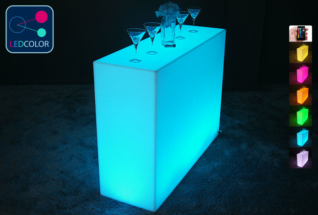 BAR Lumineux à LED Multicolore - SQUARE