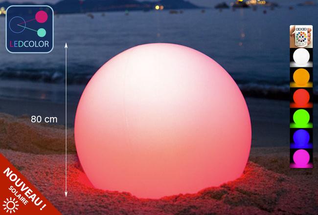 Boule Lumineuse à LED Multicolore - 80 cm