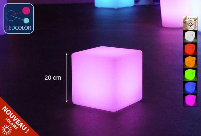 Cube Lumineux Solaire Led Multicolores Sans Fil À Prix Usine -75%