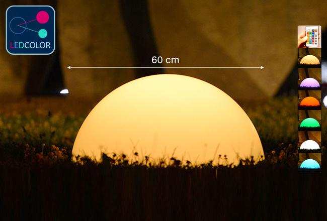 Demi-Sphère Lumineuse à LED Multicolore - ZAKAT - 60 cm