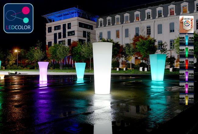 Pot Lumineux à LED Multicolore - TITAN ROUND