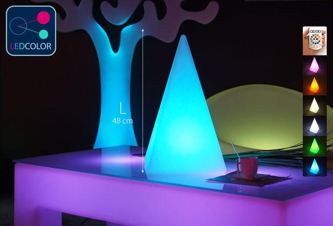Pyramide Lumineuse à LED Multicolore - PYRAMIS - 48 cm