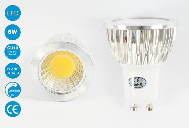 Ampoule LED GU10 6 Watts Blanc Chaud