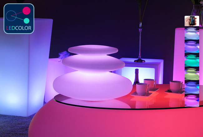 Galet Kivi Lumineux à LED Multicolore XXL