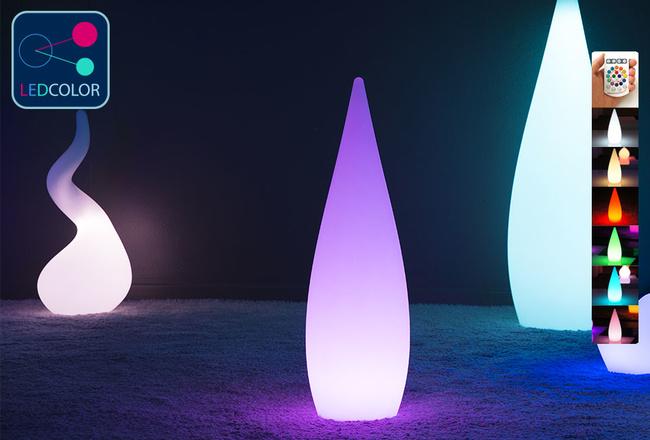 Goutte Lumineuse à LED Multicolore - SKAL - 80 cm