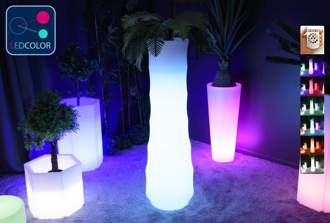 Pot Lumineux à LED Multicolore - BAMBOO
