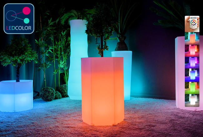 Pot Lumineux à LED Multicolore - HEXAGONE M