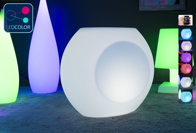 Pot Lumineux LED Multicolores - GEODE blanc