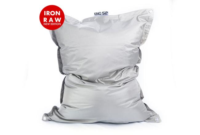 Pouf Géant Extérieur Gris BiG52 IRON RAW