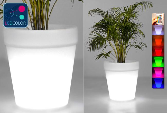 Pot Lumineux à LED Multicolore - ROUND XXL