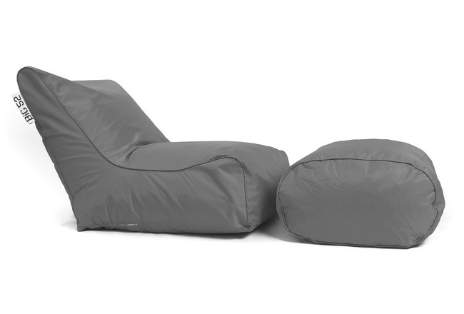 fauteuil pouf big52 graphite avec repose pieds. Black Bedroom Furniture Sets. Home Design Ideas