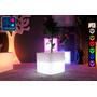 Cube Multifonctions Lumineux à LED Multicolore - 40 cm
