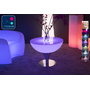 Table basse lumineuse LED Multicolore - STEEL MOON