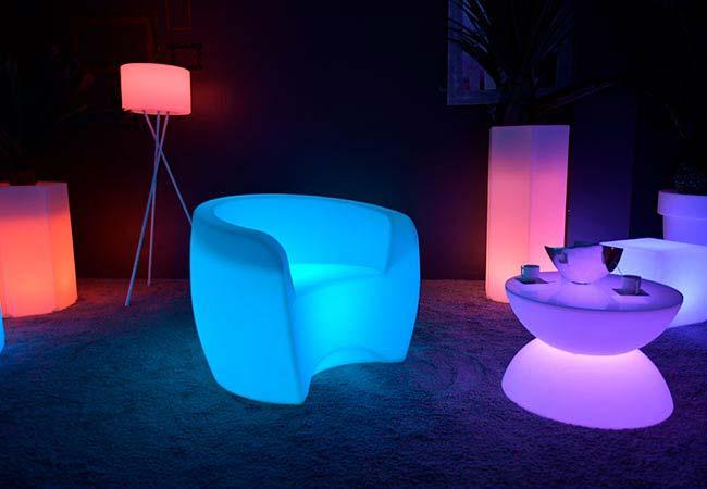 Leuchtender Sessel