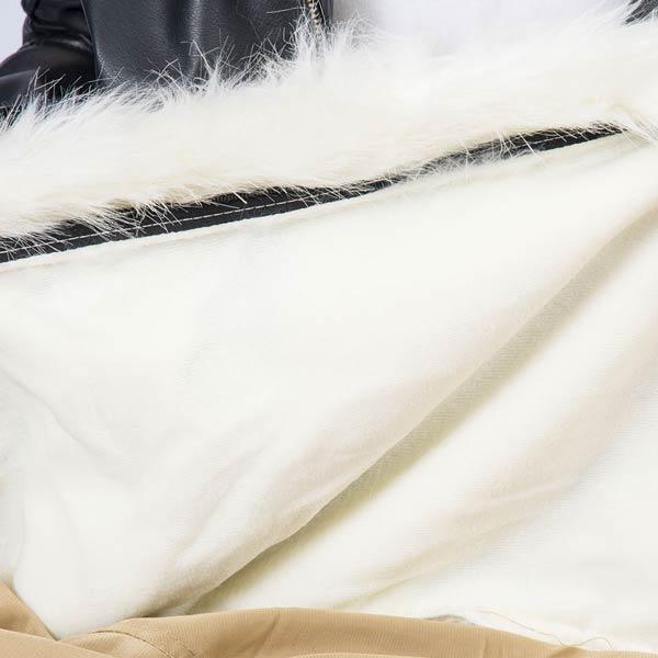 le pouf fauteuil fourrure blanc TiTAN S est déhoussable
