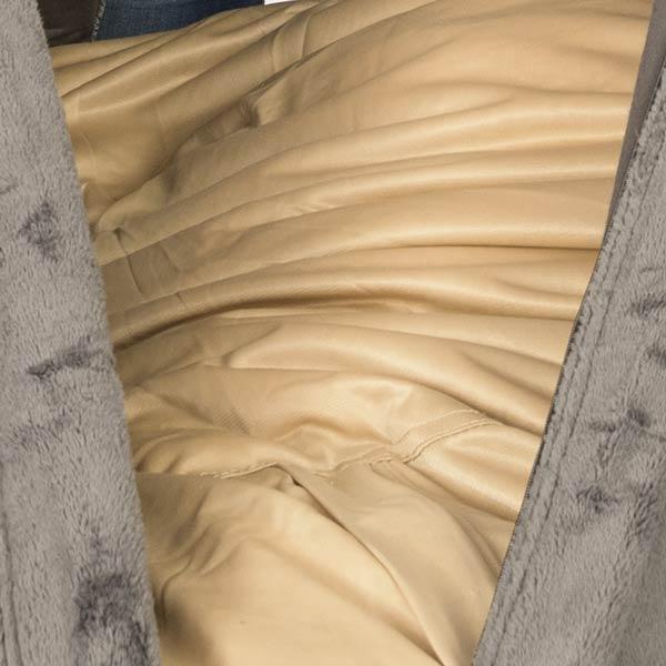 le pouf fauteuil polaire gris TiTAN S est déhoussable