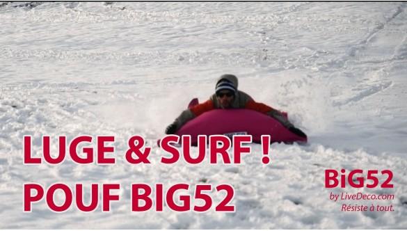 Nous l'avons fait ! Luge & Surf avec les poufs géants BiG52