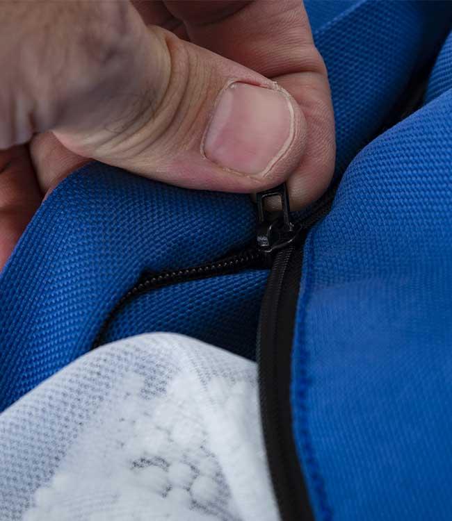 Le pouf BiG52 PRO® bleu est déhoussable