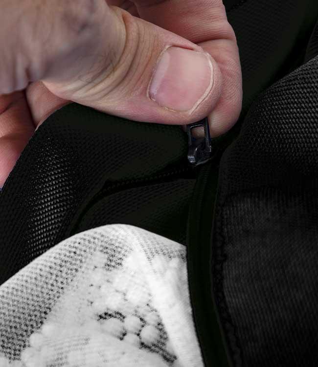 Le pouf BiG52 PRO® noir est déhoussable