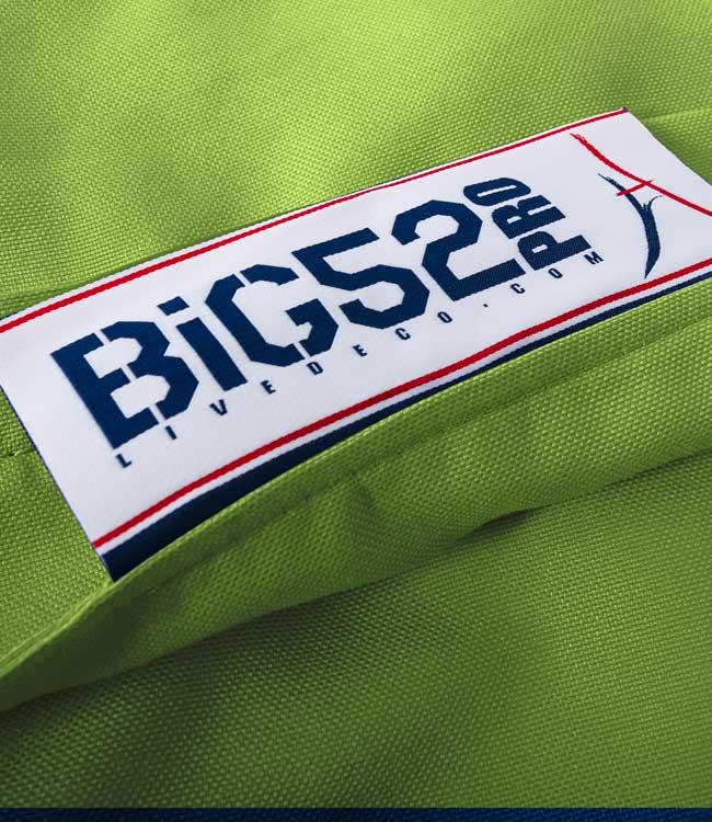 housse vert pistache du pouf BiG52 PRO®