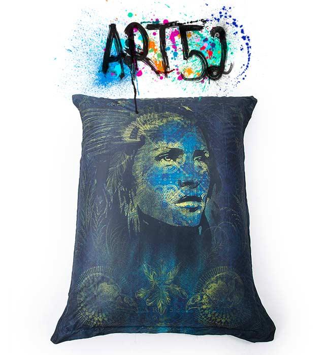 Pouf ART52 WILD, avec tissu polyester, M1 Anti-Feu