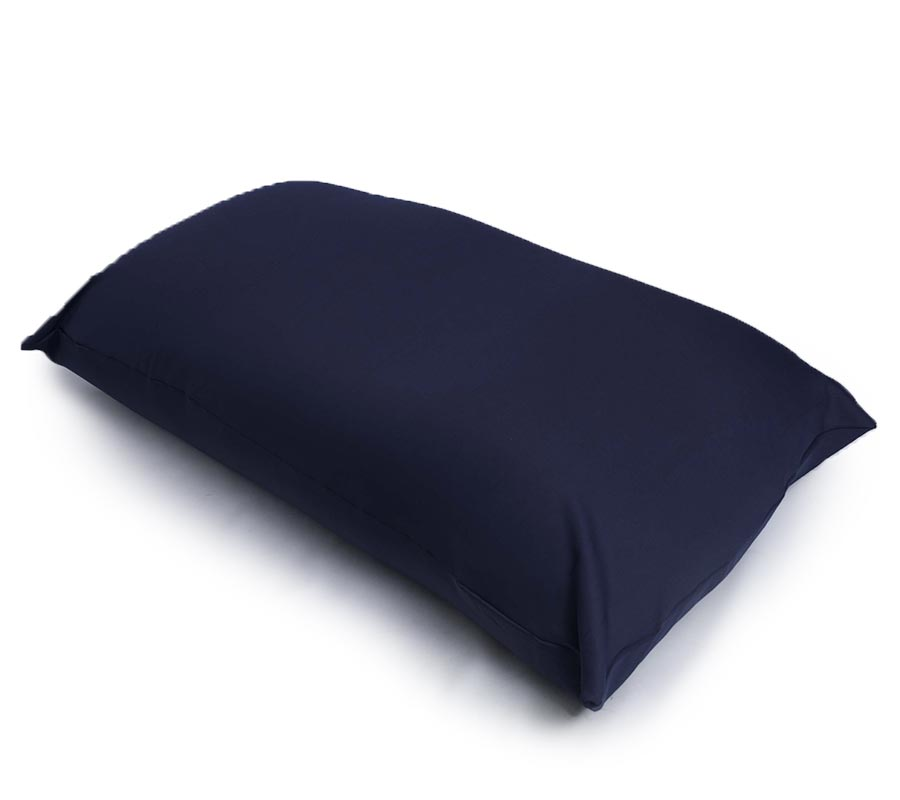 Pouf Géant Bleu Marine Stretch