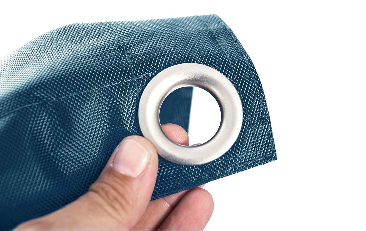 pouf géant extérieur BiG52 IRON RAW bleu pétrole