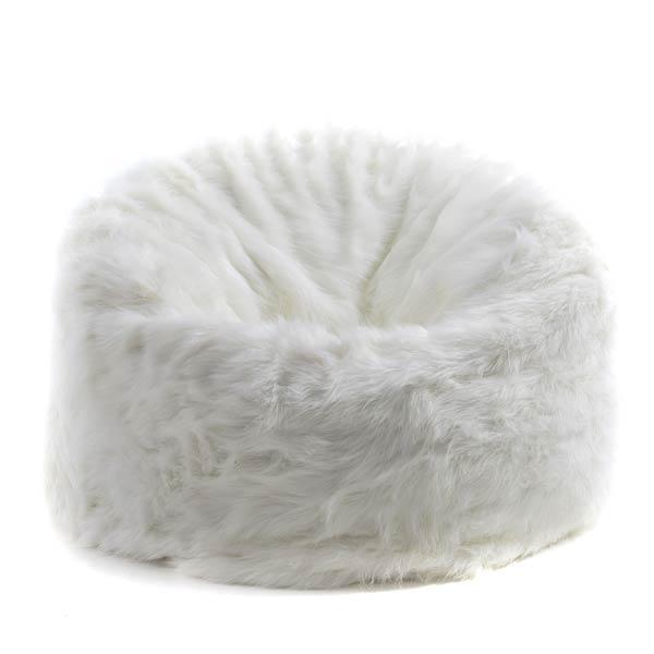 pouf géant TiTAN fourrure blanc