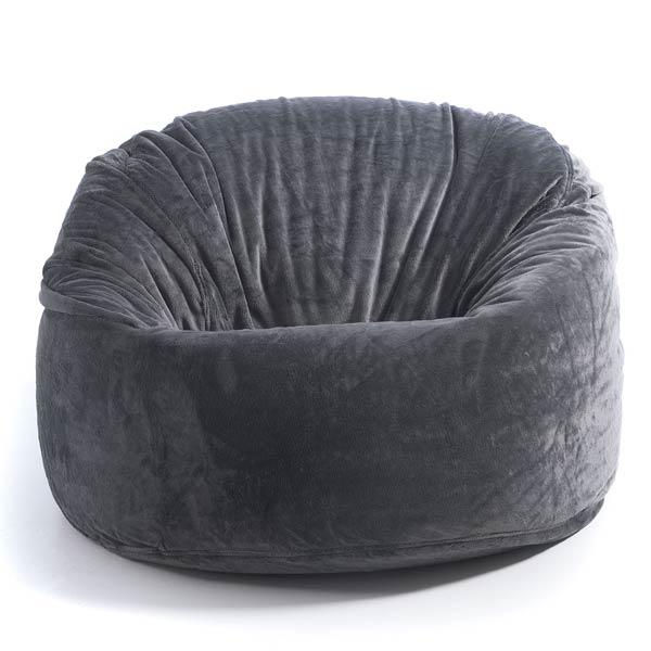 pouf géant TiTAN polaire gris