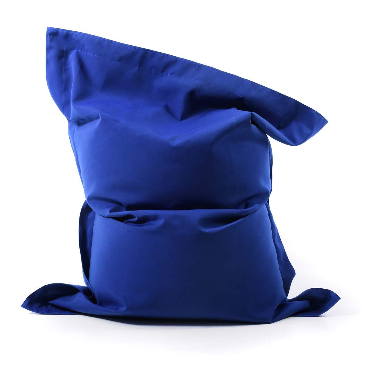 pouf geant bleu en voile de bateau
