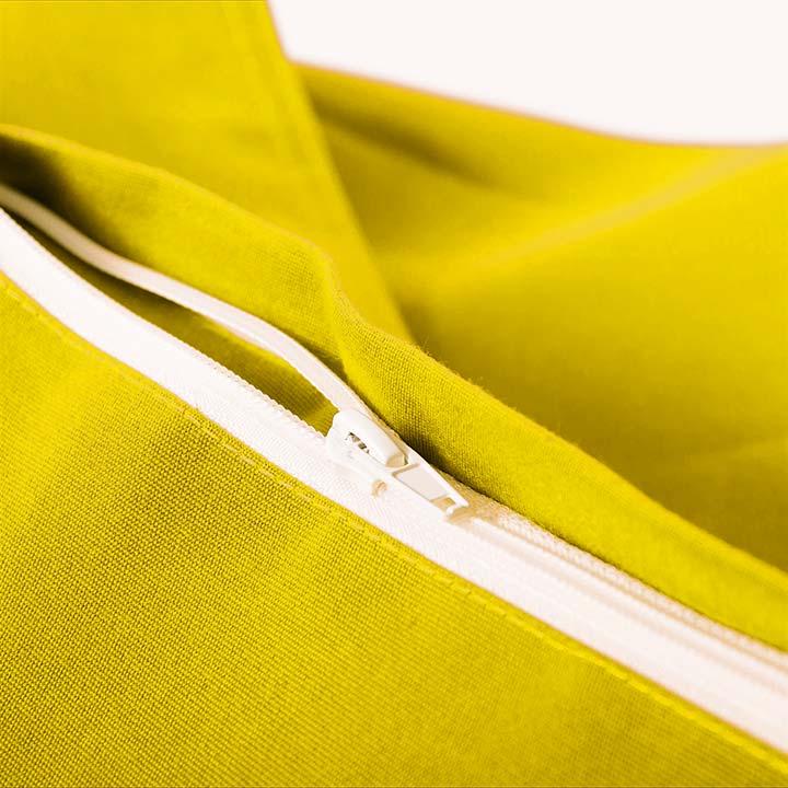 pouf géant extérieur voile bateau jaune