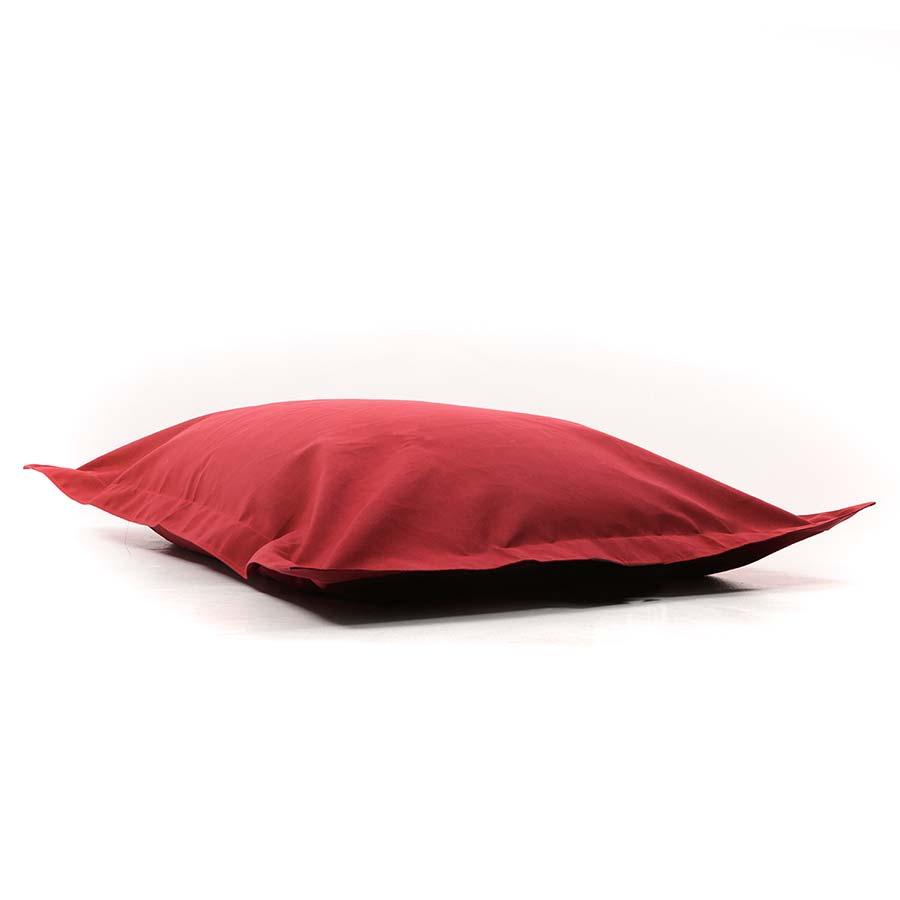 pouf geant rouge en voile de bateau